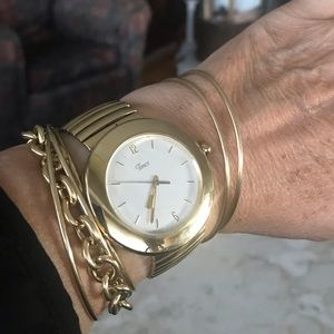 Gold Tone Timex Watch